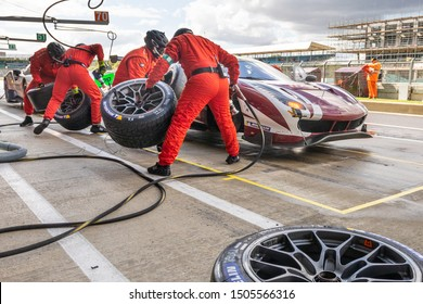 Silverstone Circuit, UK, Aug 29 - Sept 1 2019. Pit stop, Red River Racing Ferrari 488 GTE EVO. WEC 4 Hours of Silverstone