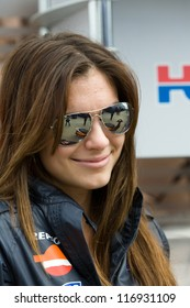 SILVERSTONE, ENGLAND - JUNE 10: Adriana Stoner, in paddocks of MotoGP, June 10, 2011 in Silverstone, England