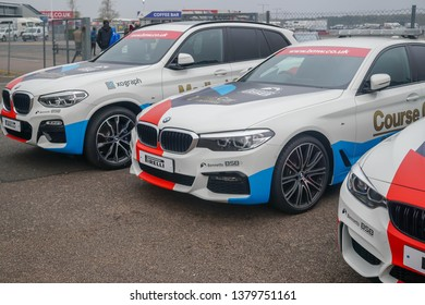 Silverstone, Northamptonshire and Buckinghamshire, England, United Kingdom 10 April 2019, Safety Car Pirelli, official car BSB bmw