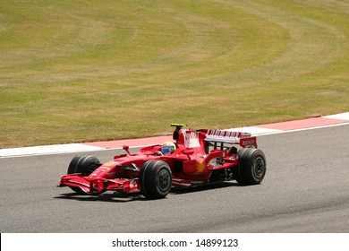 SILVERSTONE, UK - JULY 7: Felipe Massa racing for Ferrari at the British F1 Grand Prix 2008