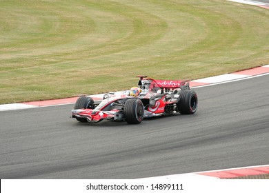 SILVERSTONE, UK - JULY 7: Lewis Hamilton racing for McLaren Mercedes team at the British F1 Grand Prix 2008