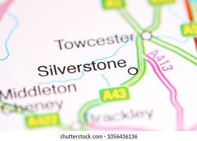 Silverstone. United Kingdom on a map