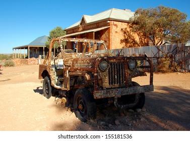 SILVERTON, AUSTRALIA - MARCH 18: Silverton is a small village at the far west of New South Wales, Australia, 25 kilometres north-west of Broken Hill. Silverton, Australia - March 18, 2013