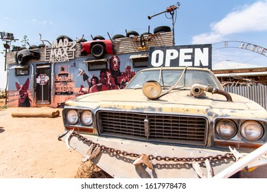 SILVERTON, AUSTRALIA. - On December 27, 2019. - Australia's first and only museum dedicated to Mad Max 2 displayed in such a way that it tells the story of the film.