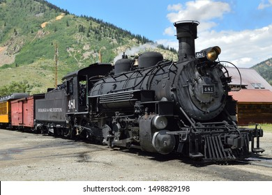 Silverton CO, USA on August 17, 2019 : The old steam train.