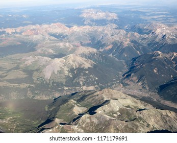 Silverton, Colorado from the air