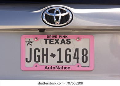 Silverton, Colorado, USA - August 18, 2017: license plate of a Toyota in the USA