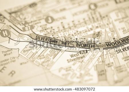 Map Of North London Uk.Silverton Way North London Uk Map Stock Photo Edit Now 483097072