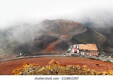 Silvestri lower crater of Etna volcano, Sicily, Italy