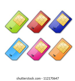 Sim card isolated on white