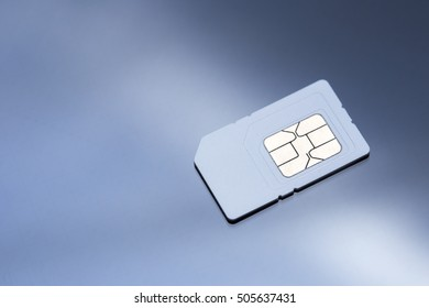 sim card on black screen glass background