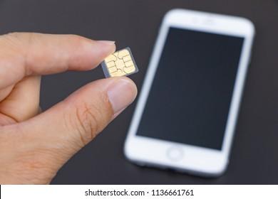 SIM card and smartphone