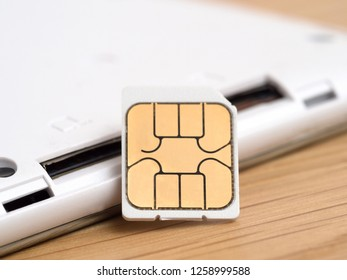 SIM card and tablet