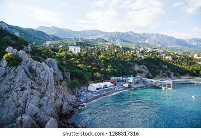 Simeiz, Crimea , View from a rock Diva at city beach