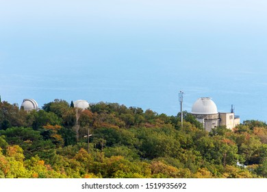 Simeiz Observatory, Astronomical Research Observatory. Located near the village of Simeiz on Mount Cat. It is part of the Crimean Astrophysical Observatory.