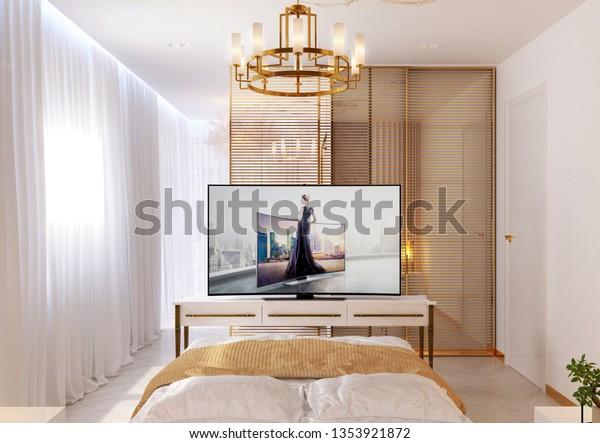 Simferopol 01312019 Bedroom Bright Colors Modern Objects