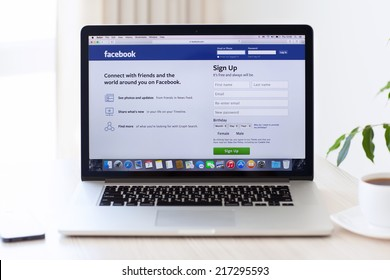Simferopol, Russia - August 7, 2014: Facebook the largest social network in the world. It was founded in 2004 by Mark Zuckerberg and his roommates during training at the Harvard University.
