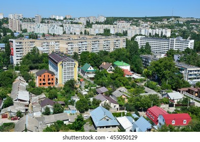 Simferopol, Russia, July, 14, 2016. The view of the city of Simferopol from Peter rocks