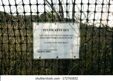 SIMI VALLEY, CALIFORNIA � MARCH 3, 2009: The edge of the Rocketdyne site in Simi Valley California. where in July 26, 1959 a partial meltdown, or Sodium Reactor Experiment (SRE) incident, occurred.