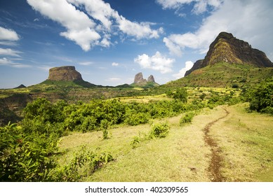 The Simien mountains in northern Ethiopia