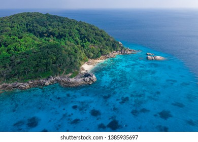 The Similan archipelago in Thailand aerial photography