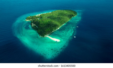 Similan Island in the Philippines, next to Oslob. Tropical Paradise, bird view drone aerial photography.