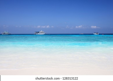 Similan Islands is a beautiful tourist attraction in Andaman sea, Thailand Scuba diving is for those who like adventure - Shutterstock ID 128313122