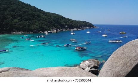 Similan island,sea in thailand