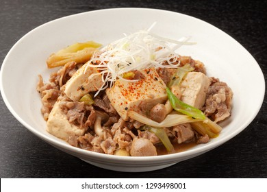 simmered beef and tofu