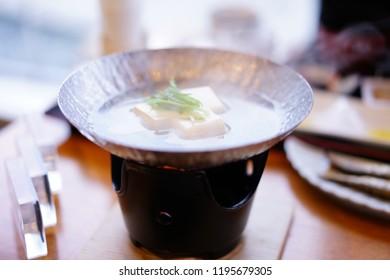 Simmered tofu at Japan