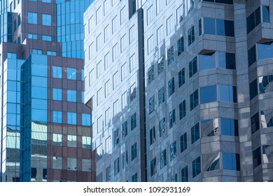 Simmetric windows on typical offices buildings