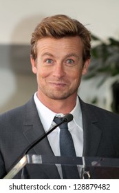 Simon Baker at Simon Baker Honored With Star On The Hollywood Walk Of Fame, Hollywood, CA 02-14-13