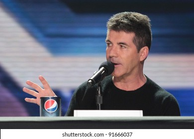 "Simon Cowell at ""The X Factor"" Press Conference, CBS Televison City,  Los Angeles, CA 12-19-11"