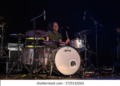 Simon Lea, Drummer from The Temperance Movement, Live at Manchester Academy Uk, 1st March 2019