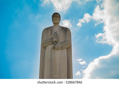 Simon Peter Statue with Blue Sky Background (Saint Peter the Apostle)