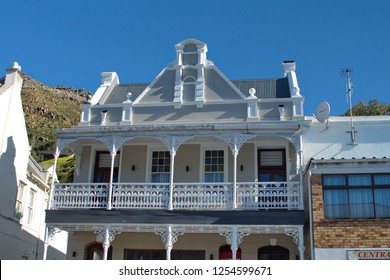 SIMON'S TOWN, SOUTH AFRICA - CIRCA SEPTEMBER 2018: Historic building along the main road on the waterfront
