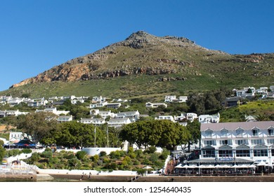 SIMON'S TOWN, SOUTH AFRICA - CIRCA SEPTEMBER 2018: Houses on a hill
