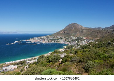SIMON'S TOWN, SOUTH AFRICA - DECEMBER 1, 2007: view from above on Simon's Town, half way between Cape Town and the Cape of Good Hope.