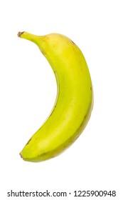 Simple banana isolated on white background