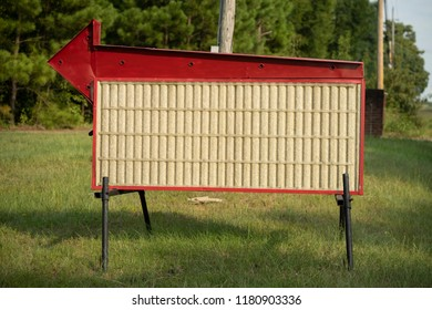 A simple billboard portable message sign vintage condition
