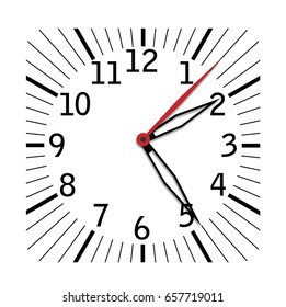 Simple black and white clock eighth edition