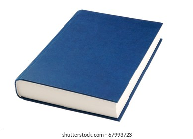 simple blue hardcover book isolated on white background