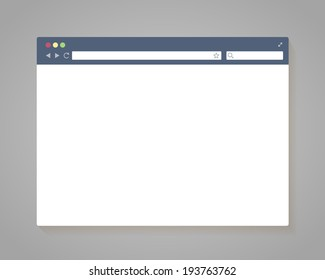 Simple Browser Window in flat style