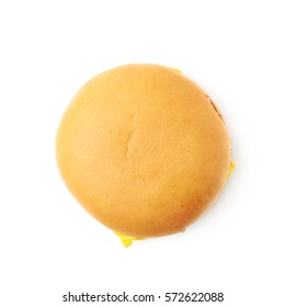 Simple cheese burger isolated over the white background