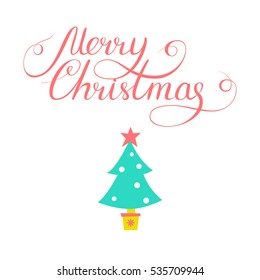 Simple christmas card design doodle illustration stock illustration simple christmas card design with doodle illustration and lettering xmas design for greeting cards and m4hsunfo