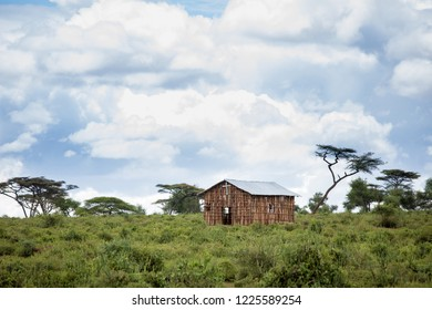 Simple church building in the rural countryside of Ethiopia.