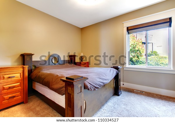 . Simple Classic New Bedroom Nice Bed Stock Photo  Edit Now  110334527