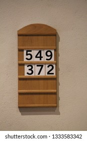 A Simple Classic Wooden Church Service Order Board.