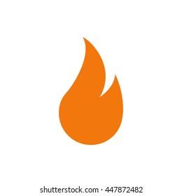 simple color fire icon.