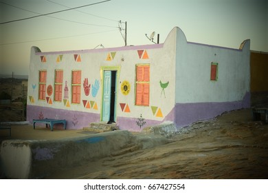 Simple Colorful House in Nubia, Egypt
